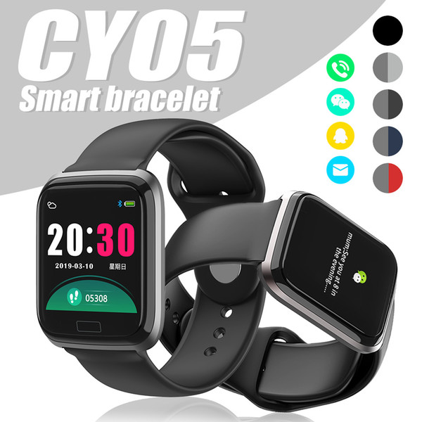 CY05 Smart Bracelet Fitness Tracker Smart Watch Bluetooth IP67 Waterproof Heart Rate Monitor Wristband for Android IOS PK Y7 ID115