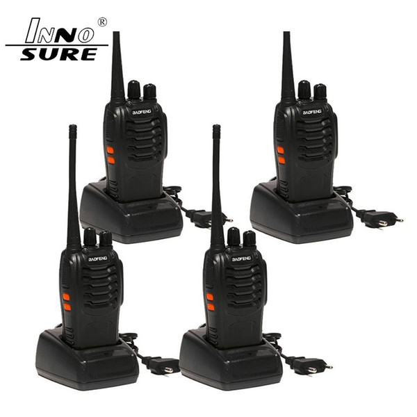 best selling 4pcs Baofeng BF-888S Walkie Talkie 5W Handheld bf 888s UHF 5W 400-470MHz 16CH Two Way Portable Scan Monitor Ham CB Radio