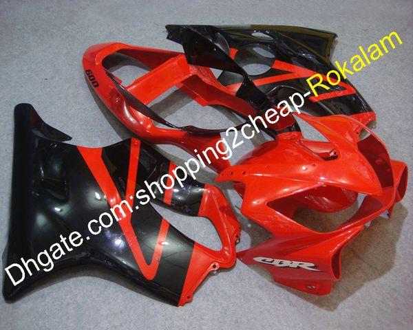 Ajuste de la motocicleta para Honda CBR600 F4i 2001 2002 2003 CBR600F4i CBR 600F4 Moto Rojo Negro Body Kit de carenado (moldeo por inyección)