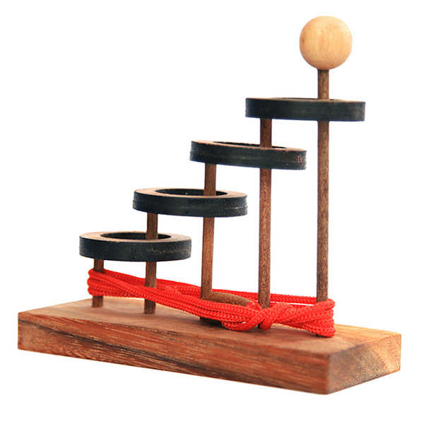 Wooden Brain Game IQ Teasers Puzzle Mind Stress Reliever Toy for Adults Kids