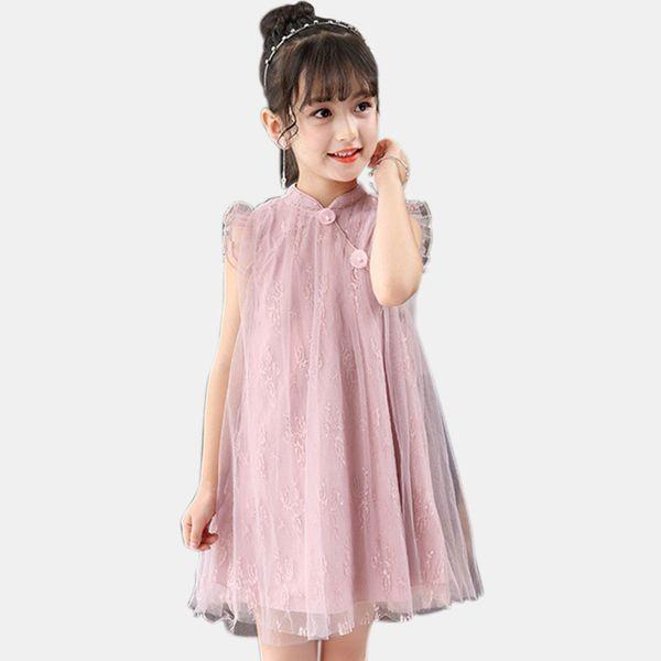 Compre Vestido Para Niñas Princesa Fiesta Infantil Vestido De Encaje Vestidos Para Niños Ropa Elegante Para Niños 6 8 12 Años Trajes Infantiles Para