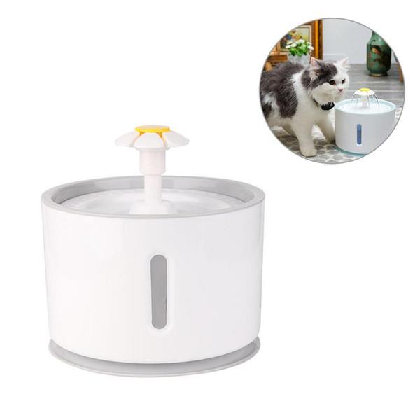 2.4L Otomatik Besleyiciler Akıllı LED Işık Ile Pet Su Sebili Kedi Orta Küçük Köpekler Için Kedi Köpek Su Çeşme Tüm kedi
