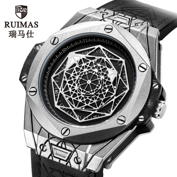 Mode sport des hommes de montre étudiant montre à quartz étanche personnalité