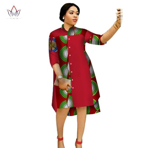 2019 Nice Women Maxi Dress African Print Dresses For Women Three Quter  Sleeve Dress Print Clothing Plus Size 6xl Brw Wy1656 From Brittany73,  $87.64 | ...