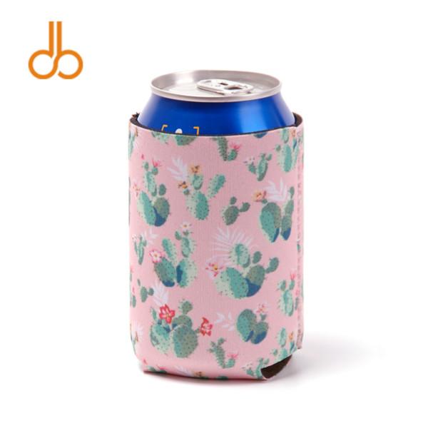 Wholesale Bullskull Can Cooler Neoprene Cactus Can Wrap Bull Horn Floral Neoprene Bottle Holder DOM-108551