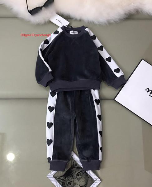 2019 новый высококачественный детский с длинными рукавами из двух частей костюм190831 # 000c5