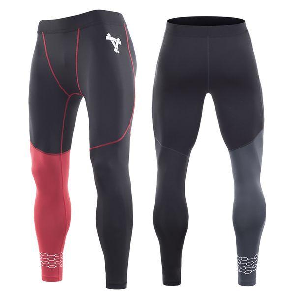 Pantaloni sportivi da uomo Pantaloni da corsa Leggings Fitness Abbigliamento sportivo Pantaloni lunghi Pantaloni allenamento da ginnastica Leggins skinny Hombre
