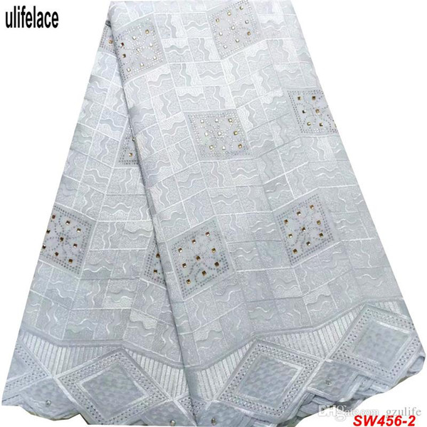 2019 high quality African Swiss Voile Lace in Switzerland Eyelet Dress Lace Fabrics 100% cotton Women party dress fabric SW-456