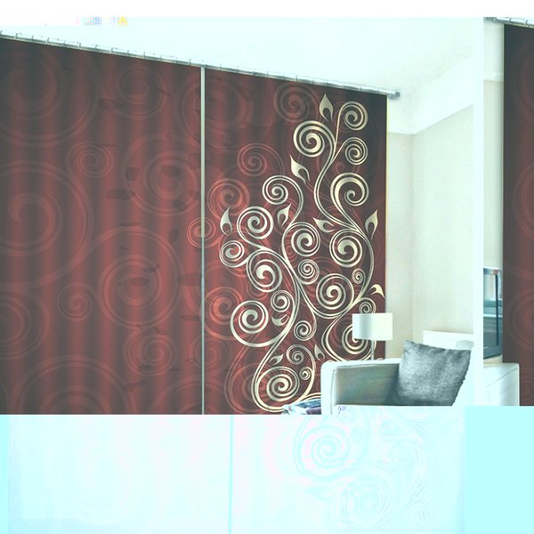 Euporean Pattern Stylish 170X200CM Window Curtains for Home Kitchen Living Room Bedroom Window Decoration