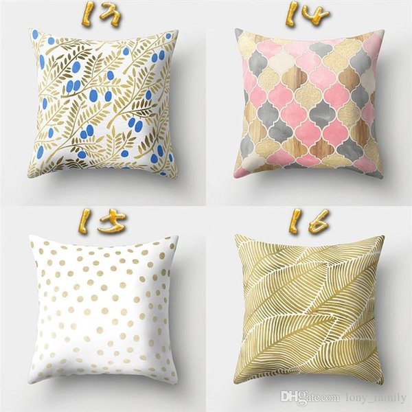 Wholesale 16 Designs 45*45cm Gold Totem Cushion Covers Bedroom Seat Decorative Pillow Home Decor Kitchen Accessories Party Decoration Store-
