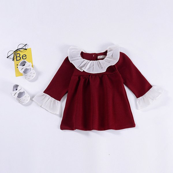 Baby Dress 2019 Autumn New Baby Girl Clothes Children Dresses Baby Girl Cotton Princess Ruffles Clothing Long Sleeves 1-5T