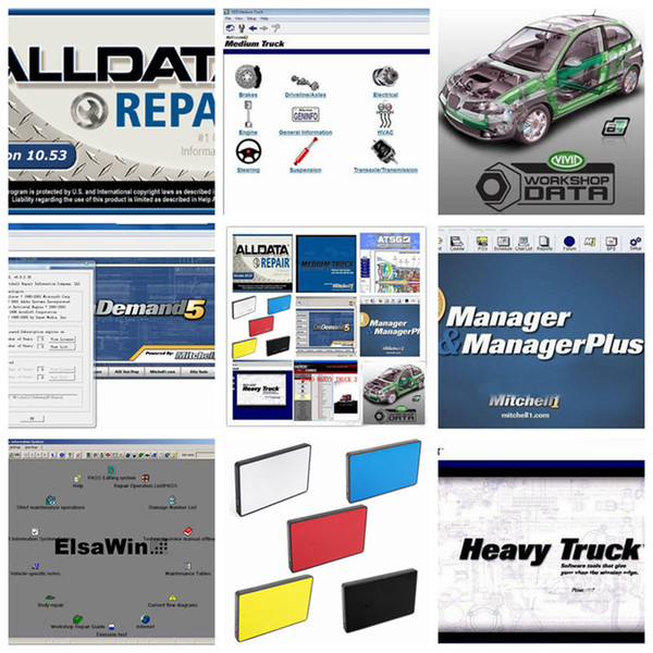 2019 Alldata Software all data and mitchell software auto repair V10.53 mitchell on demand V2015 ElsaWin Vivid Workshop 1TB HDD