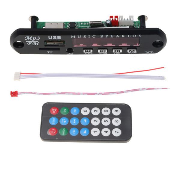 Q9A 12V Audio Board Decoder Remote Car Radio AUX TF MP3 Altoparlante musica USB
