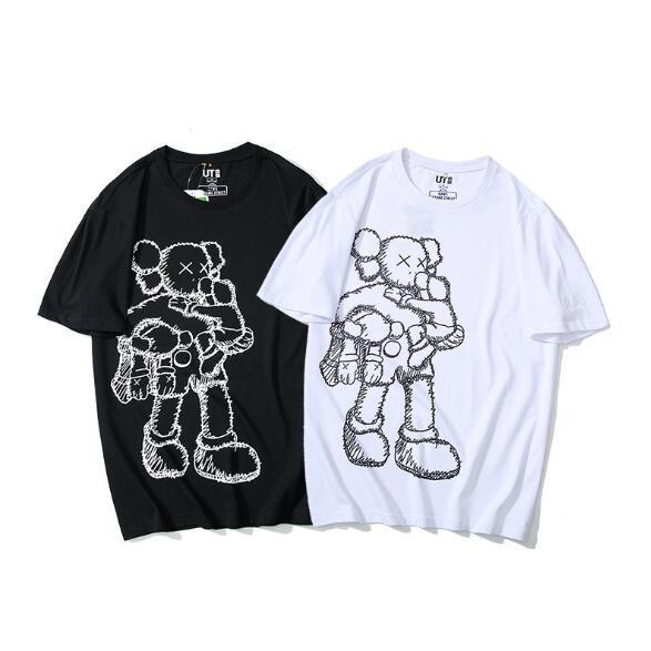 Мужская дизайнерская футболка 19ss МОДА СТИЛЬ пародия стерео мультфильм с коротким рукавом круглый вырез футболки Мужская одежда черно-белый Азиатский размер M-2XL