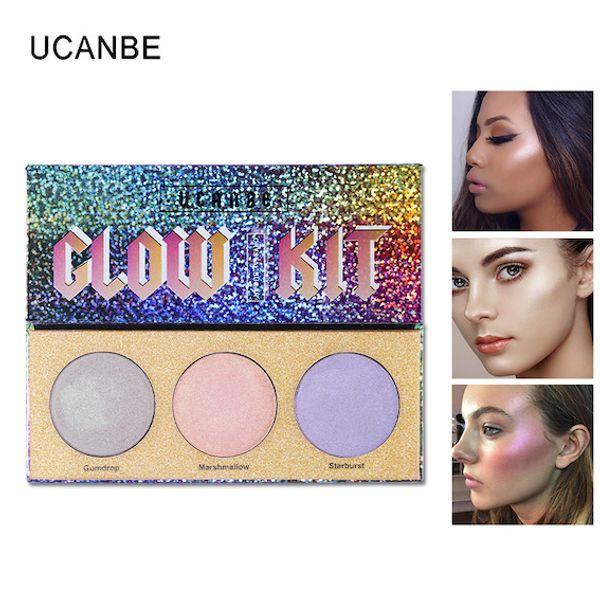Factory Wholesale Face Body Glow Kit EyeShade Highlighter Makeup Shimmer Face Brighten Powder Base Golden Light E-Shadow Illuminator Palette