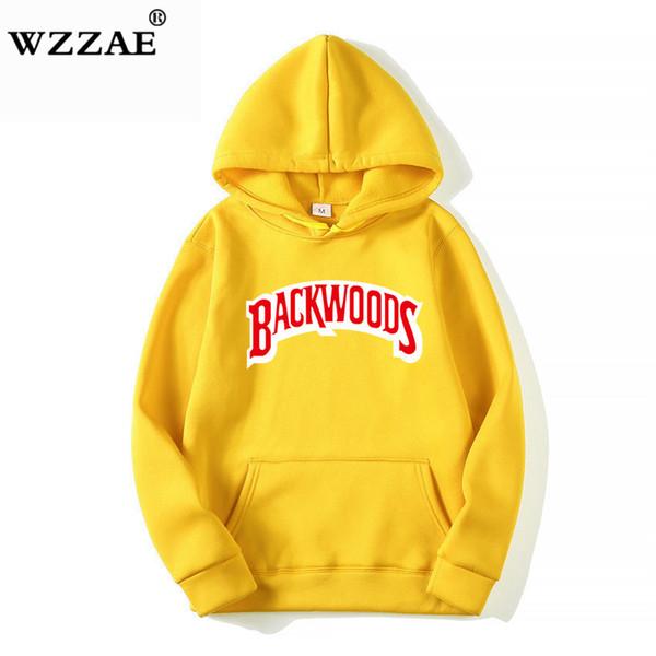 Die Schraube Thread Manschette Hoodies Streetwear Backwoods Hoodie Sweatshirt Männer Mode Herbst Winter Hip Hop Hoodie Pullover Hoody SH190823