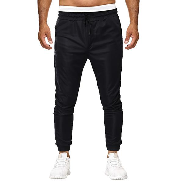 Pantalones de talla grande Hombres Verano 2019 Streetwear Pantalones de trabajo ocasionales Culturismo Ropa Slim Fit Moda Hombre 2019 Jogger Hombre