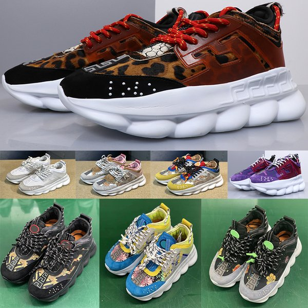 Zincir Reaksiyonu adam Rahat üçlü Tasarımcı Sneakers Spor Moda erkekler Ayakkabı kadın Eğitmen Toz Torbası Ile Hafif Bağlantı Kabartmalı Taban