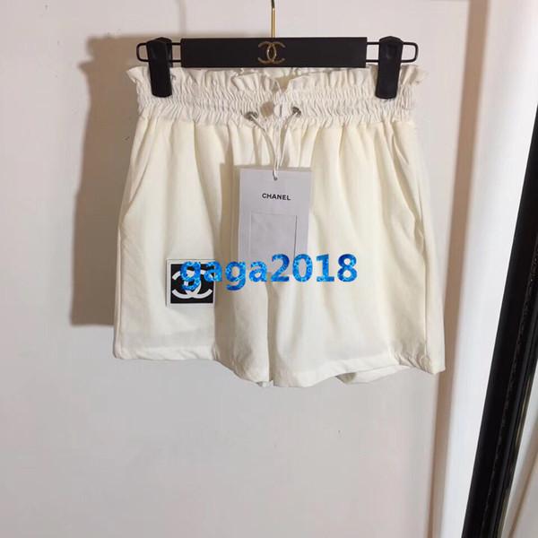 donne pantaloncini pantaloni lettera lettera applique elastico in vita jogging allentato pantaloncini vintage gonna mini pantaloni di lusso di fascia alta moda abito
