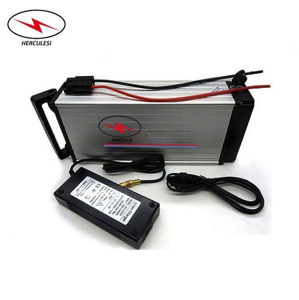 Carcasa de aluminio rígido Estante trasero Batería de litio para bicicleta eléctrica Ebike 36V 30Ah para uso del motor 1000w 8fun en Sams ung Cells
