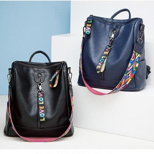 top popular Genuine Leather High Quality 2018 men women's Backpack famous Backpack Designer lady backpacks Bags Women Men back pack 2 colors 2020