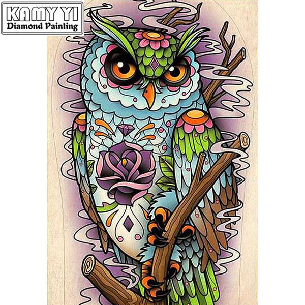 "Full Drill Square Diamond 5D DIY Diamond Painting""Cute owl""Diamond Embroidery Cross Stitch Rhinestone Mosaic Painting"