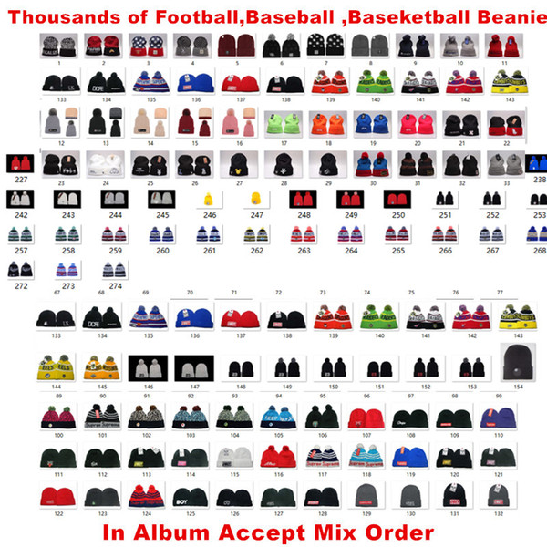 best selling Newest Beanies Football Knit Hats Sports Cap The City Cap Mix Match Order All Caps in stock Top Quality Hat More 5000+Styles