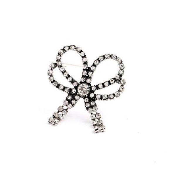New high-quality designer fashion explosion jewelry wholesale Vintage diamond-studded luxury bow female brooch