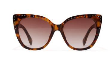 the latest fashion trend of personality rivet cat's eye lady high definition sunglasses exquisite fashion glasses sunglasses and sunglasses
