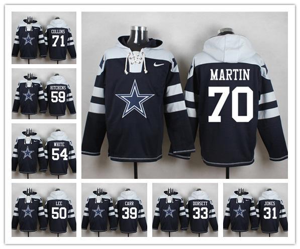 Dallas Sweatshirt Cowboys Crucial Catch Performance Pullover Football Hoodie 21 Ezekiel Elliott 88 Dez Bryant 82 Jason Witten Mens Dress Shirt