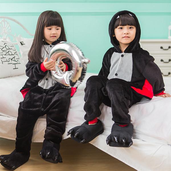 Pigiama per bambini Kigurumi Pigiama Tutine di animali per ragazzi Tuta intera Costume da ragazza Costume di Halloween Cosplay per festa di compleanno