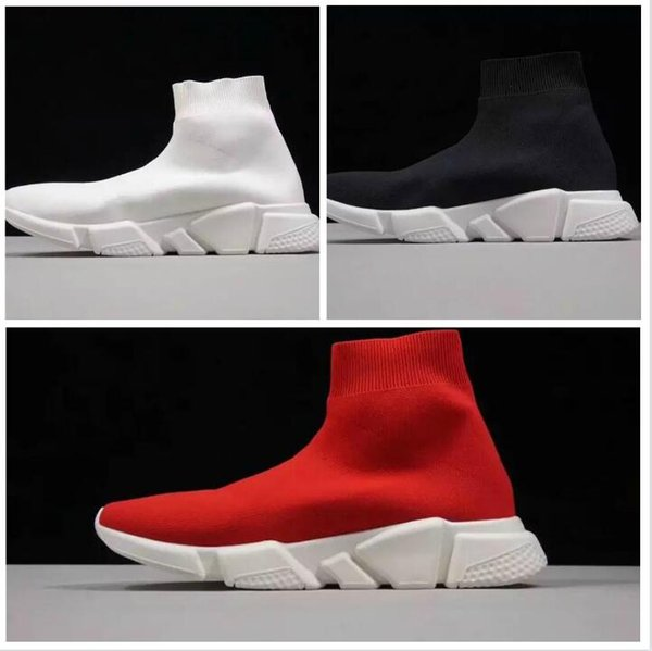 Best Level HOT NEW Speed sock high quality Speed Trainer shoes for men and women shoes Speed stretch-knit shoes Mid sneakers size Eur 36-45