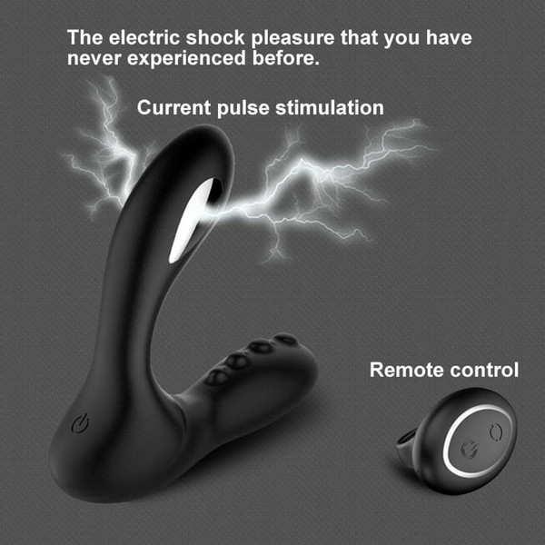 Electric Shock Male Prostate Massager Vibrator Remote Control Anal Vibrator Butt Plug Male Masturbator Adult Sex Toys For Men Y190711