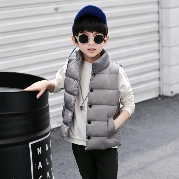 Winter Baby Verdickung Warme Westen Jungen Mädchen Daunen Baumwolle Mäntel Baby Einfache Einfarbige Weste Kinder Jacken Oberbekleidung