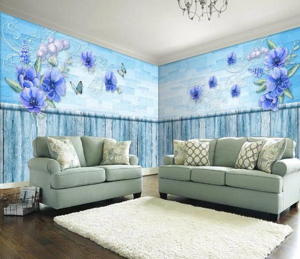 Décorations murales murales de style européen vintage mur maison entière mur personnalisé HD supérieure