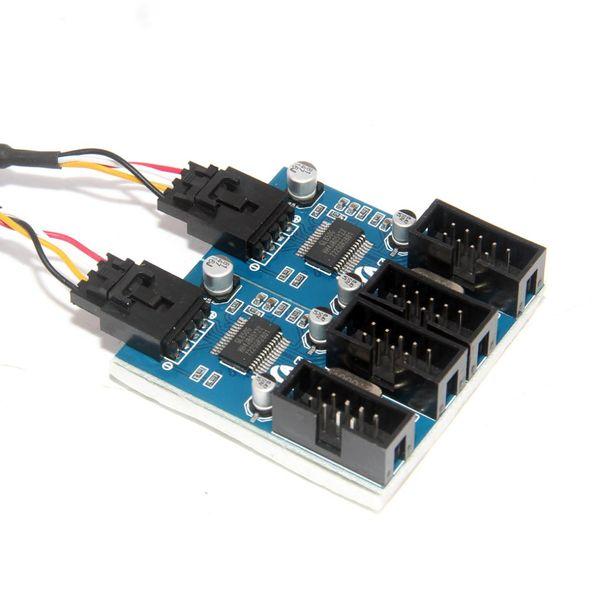 9 pin USB Connettore maschio 1 a 2/4 Female Extension Cable Scheda Desktop 9-pin hub USB 2.0 a 9 pin connettore dell'adattatore della porta Multilier