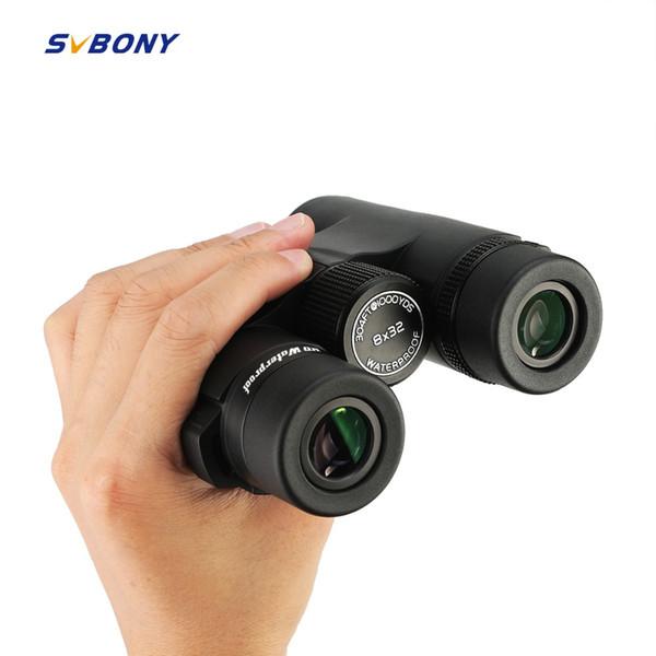 SVBONY Prisma para Techo BAK4 Binoculares 8x32 HD Telescopio Profesional Lleno de Nitrógeno Impermeable Rueda de Enfoque de Metal de Alta Potencia SV47