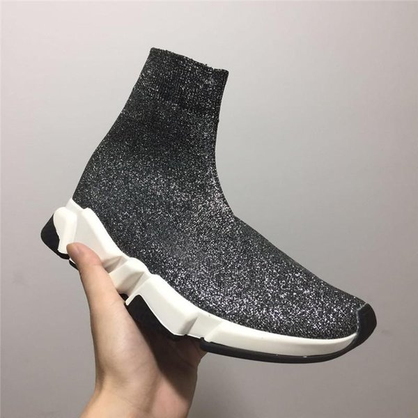 2018 Top Quality Cheap Original 2018 Women Men Sock Shoes Black White Red Speed Trainer Sneakers Top Casual shoe mens