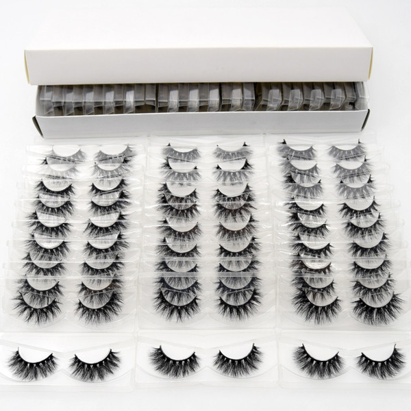 3d mink lashes with tray no box 30 pairs pack hand made full strip lashes mink false eyelashes makeup eyelashes cilios