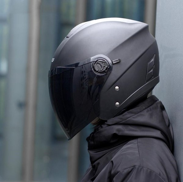 Electric motorcycle riding helmet four seasons off-road windproof double lens half helmet motorcycle rider equipped with male