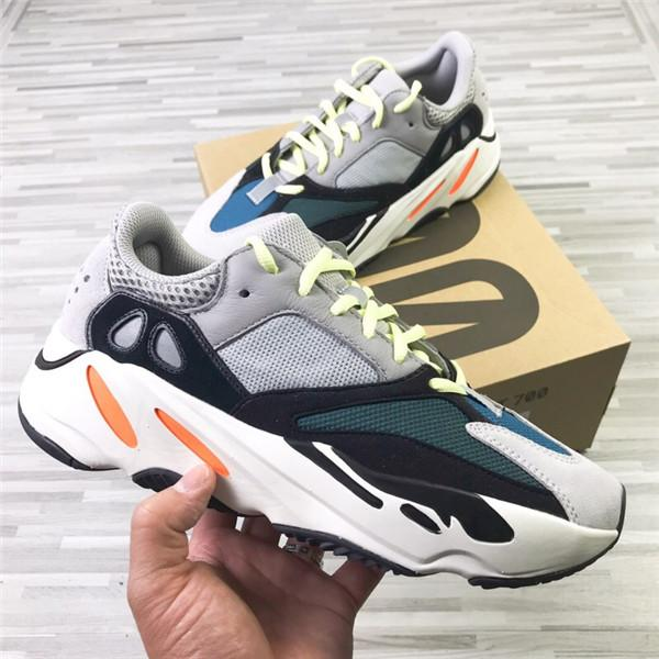 2019 Sale 700 Wave Runner Mauve Solid Grey Men Running Shoes Kanye West Designer Shoes Sport Sneakers