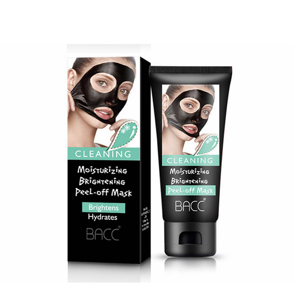 Blackhead Remover Moisturising Keratin Repair Bamboo Charcoal Hydrating Face Clean Mask Peel Off Black Facial Mask RRA1072