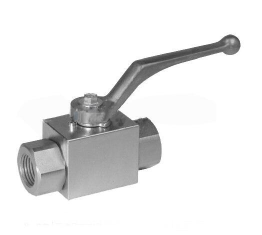 """Ball Valve Hydraulic High Pressure 1/4"""" two position two ways stainless steel 7250psi high temperature"""