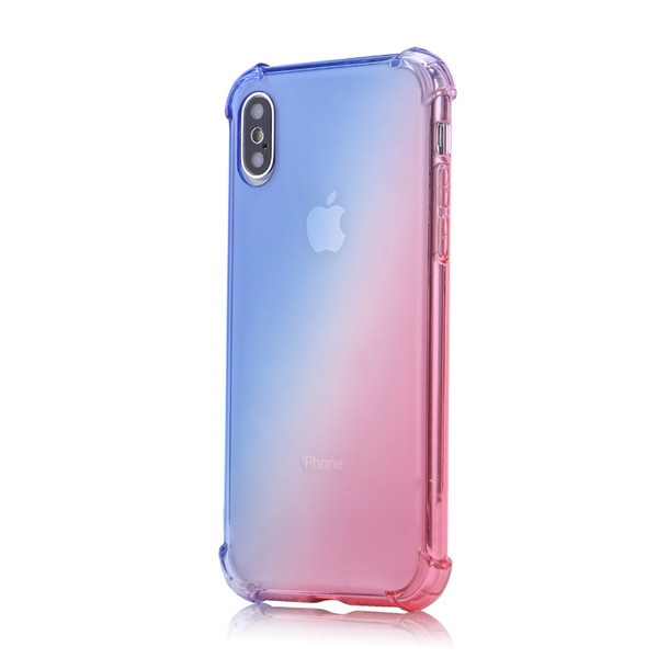 Gradient Color Airbag Shatter Resistant Cell Phone Cases Fashion TPU Phone Case Cover for 78X XR XS MAX New