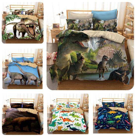 3D Dinosaur US Size Duvet Cover Set Duvet Cover With Pillowcases Without Filler Without Sheet Reactive Printed