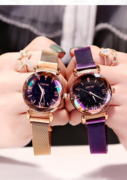 2019 new ins wind shaking sound network red with the star female table simple fashion trend Korean quartz watch