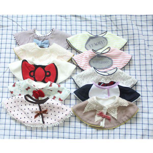 New style cute Neugeborenen Lätzchen Cartoon Baumwolle Baby Lätzchen Säuglings Spucktücher Baby Jungen Mädchen Lätzchen Neugeborenen Spucktücher Baby Geschenke A4037