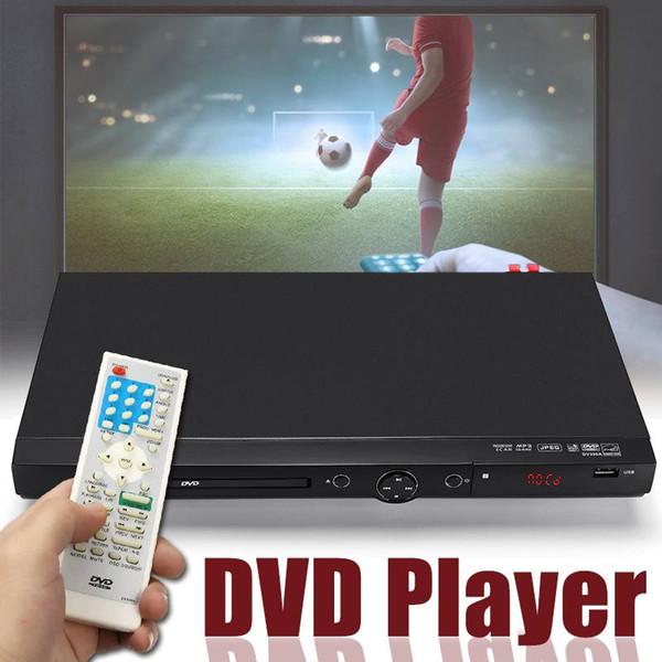 Mini USB portátil múltipla de reprodução de DVD Full HD 1080p Disco DVD CD MP3 Display LED Player Home Theater System 110V-240V