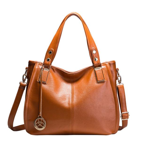 черный коричневый прибытие женщины кожа сумка мешок основной дамы сумка большой емкости женские повседневные сумки Сумка X21