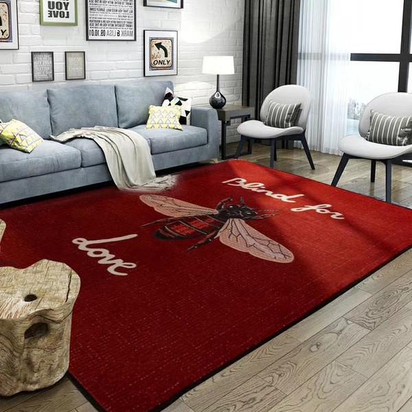 Big Bee Roter Teppich Europäische Und Amerikanische Rutschfeste Teppich Mode Logo Schlafzimmer Teppich Schmücken Matte